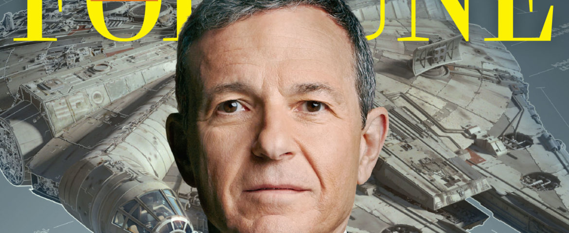 New Image of the Millennium Falcon with Disney CEO Bob Iger