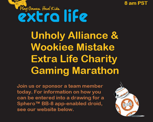 Announcing the Star Wars: The Old Republic MMO Extra Life Charity Event!