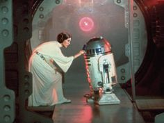 Leia with R2-D2