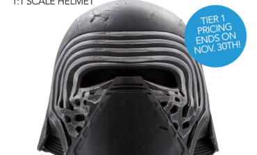 'Star Wars: The Force Awakens' Kylo Ren Helmet Now Available for Pre-order from ANOVOS!