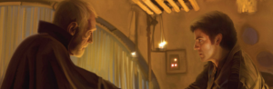 Lor San Tekka and Poe Dameron in Star Wars: The Force Awakens Photo Source: starwars.wikia.com