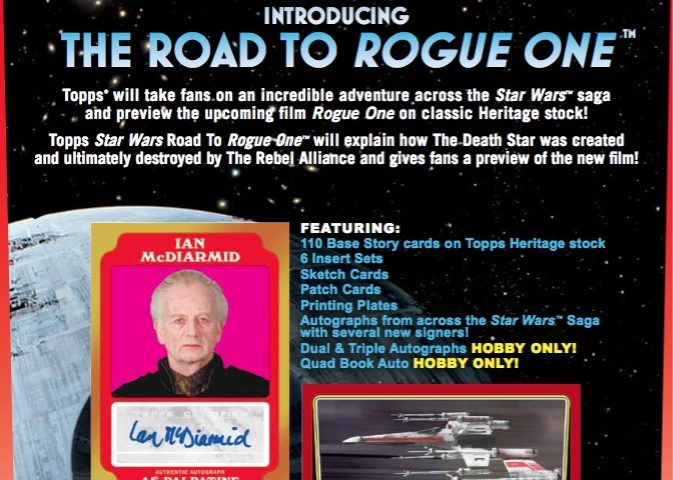 Announcing the 2016 Topps Star Wars 'Road to Rogue One' Trading Cards!