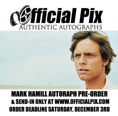 Last Call for Mark Hamill Autographs!