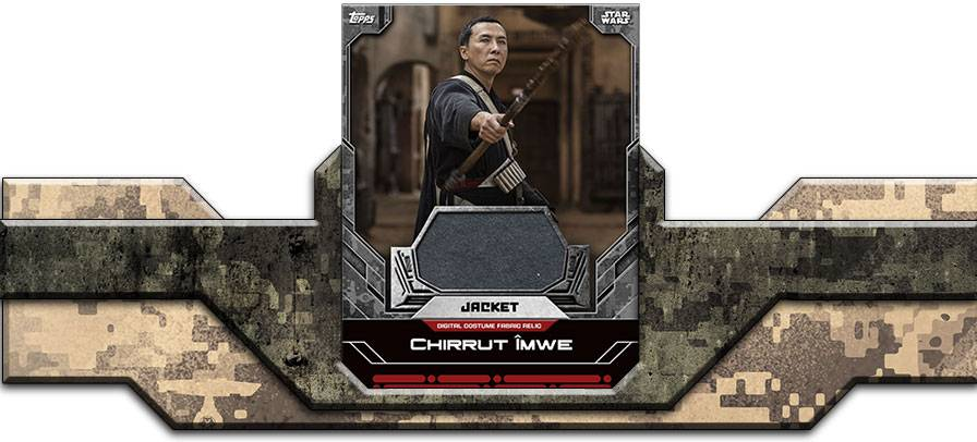 Chirrut Îmwe and Director Krennic Fabric Relics from the Topps Star Wars Card Trader App