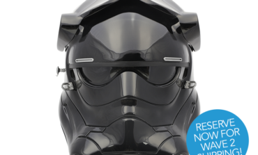RESERVE NOW — 'Star Wars: The Force Awakens' First Order TIE Pilot Helmet from ANOVOS