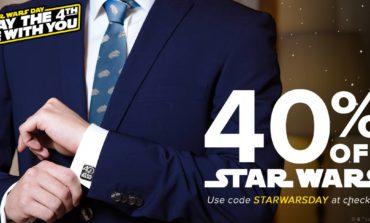 Use the 4th, Jedi: 40% Off Star Wars at CuffLinksDotCom!
