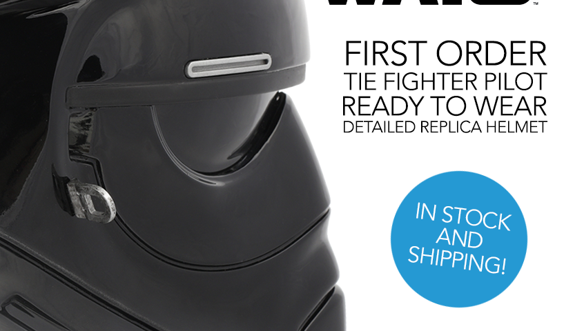 Star Wars First Order TIE Fighter Pilot Helmet from Anovos is In-Stock and Now Shipping
