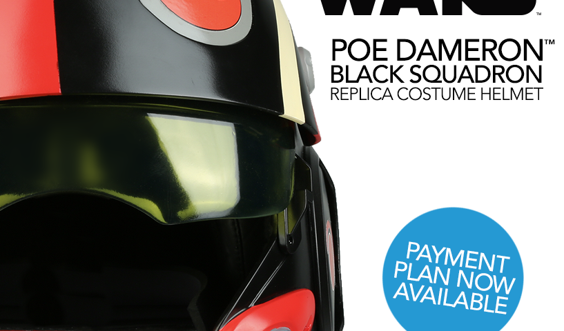 Star Wars Poe Dameron Helmet Now Available on Payment Plan from Anovos