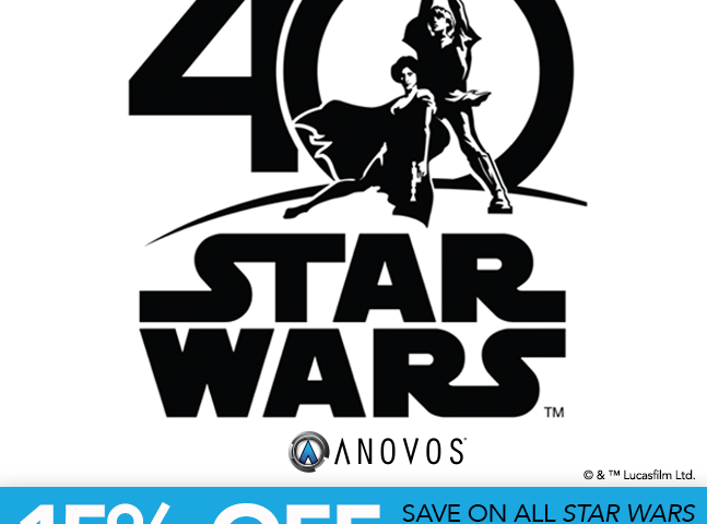 Star Wars 40th Anniversary Sales Preview from Anovos! 15% Discount Thursday, May 25, Only!
