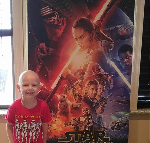 Five-Year-Old Uses Star Wars and The Force to Fight Cancer