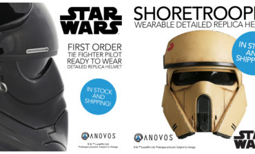 First Order TIE Fighter and Rogue One Shoretrooper Replica Helmets In-Stock and Shipping from Anovos