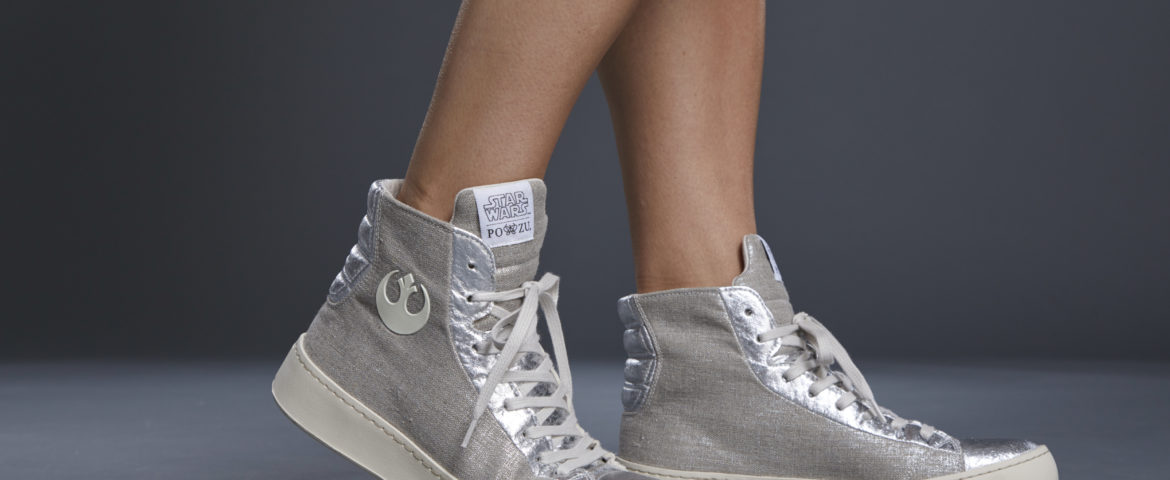 Star Wars  Po-Zu releases its first Limited Edition Women's High-Top Silver Resistance Sneaker