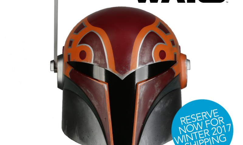 Star Wars Rebels Sabine Wren Wearable Replica Helmet Available for Pre-Oder from Anovos
