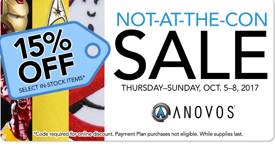 Not-at-the-Con Sale at Anovos; 15% Off Star Wars Items and More