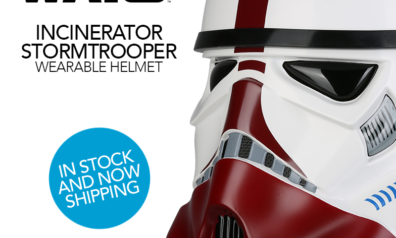 Star Wars Incinerator Stormtrooper Helmet Now Shipping from Anovos