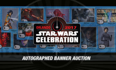 Last Chance to Bid on One-Of-A-Kind Autographed Star Wars Celebration Banners!