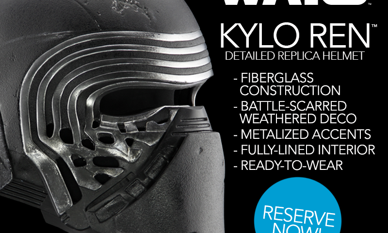 Star Wars — New Limited Wave of Kylo Ren Helmets Now Ready to Be Reserved at Anovos