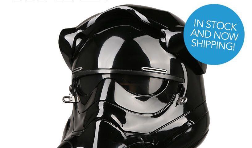 Star Wars One Day Flash Sale! Save $100.00 USD on the First Order TIE Pilot Helmet from Anovos