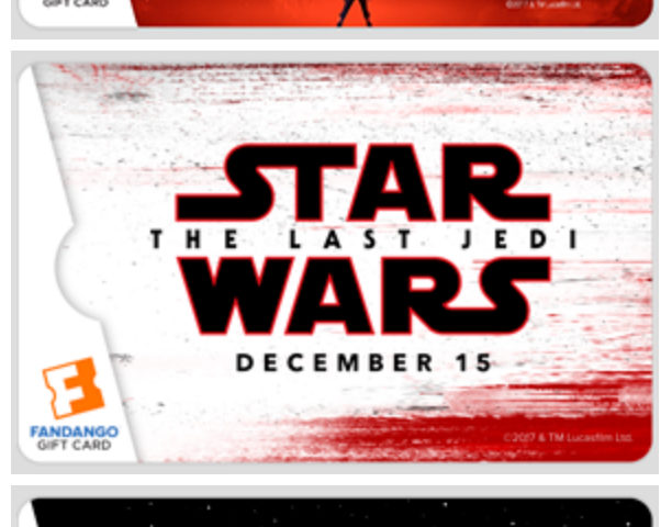 New CWK Giveaway! Win a 'Star Wars: The Last Jedi' Gift Card from Fandango!