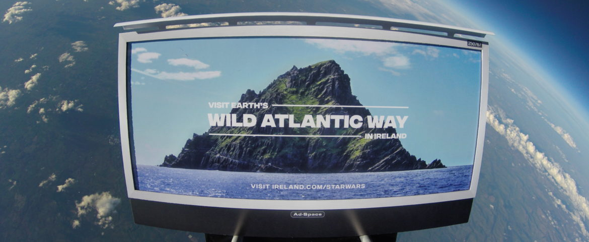 Ireland Launches First Tourism Campaign in Space ­to Celebrate Release of 'Star Wars: The Last Jedi'