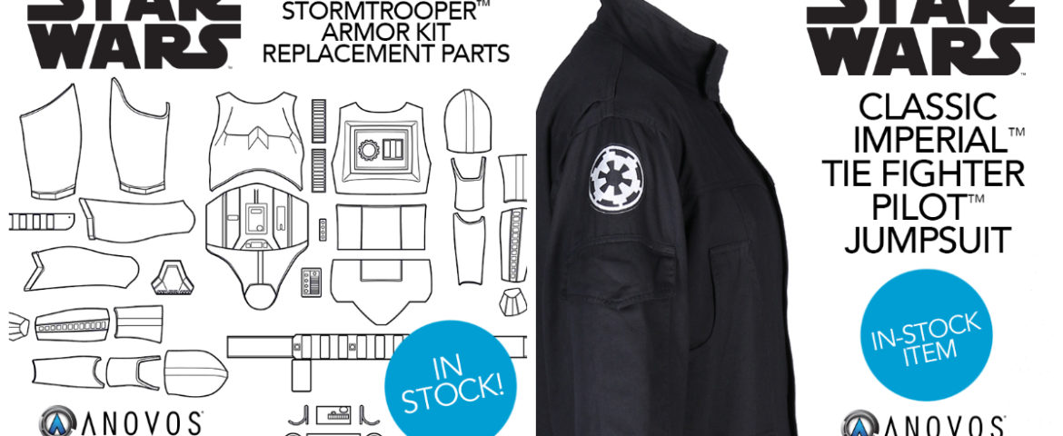 Stormtrooper Replacement Parts and TIE Fighter Pilot Jumpsuit Now Available from Anovos
