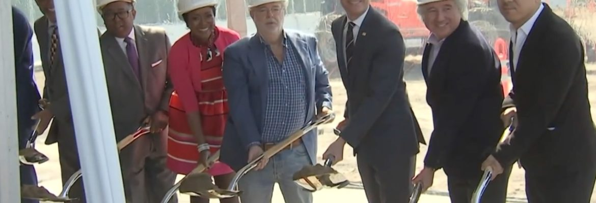 George Lucas and Mellody Hobson Break Ground on Lucas Museum of Narrative Art [Video]
