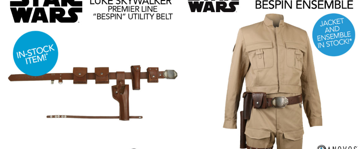 "Star Wars Luke Skywalker ""Bespin"" Utility Belt and Ensemble Now In-Stock and Shipping from Anovos"