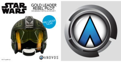 Star Wars Gold Leader Rebel Pilot Helmet Now Open for Pre-Order from Anovos
