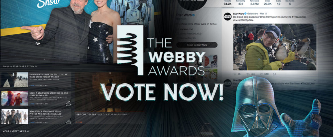 Vote for Star Wars in the 22nd Annual Webby Awards