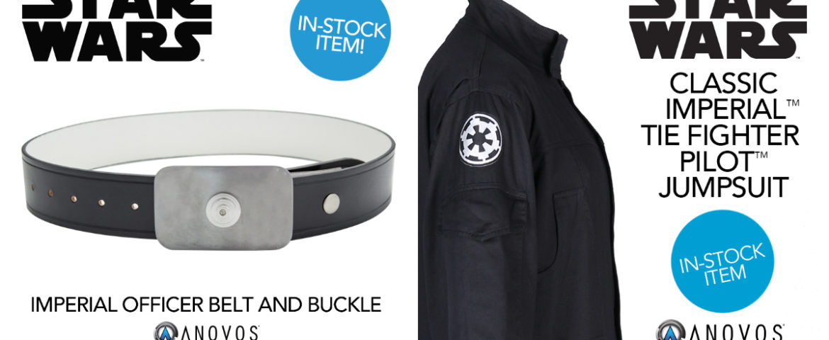 Star Wars Imperial Officer Belts, TIE Fighter Pilot Jumpsuits In-Stock and Shipping from Anovos