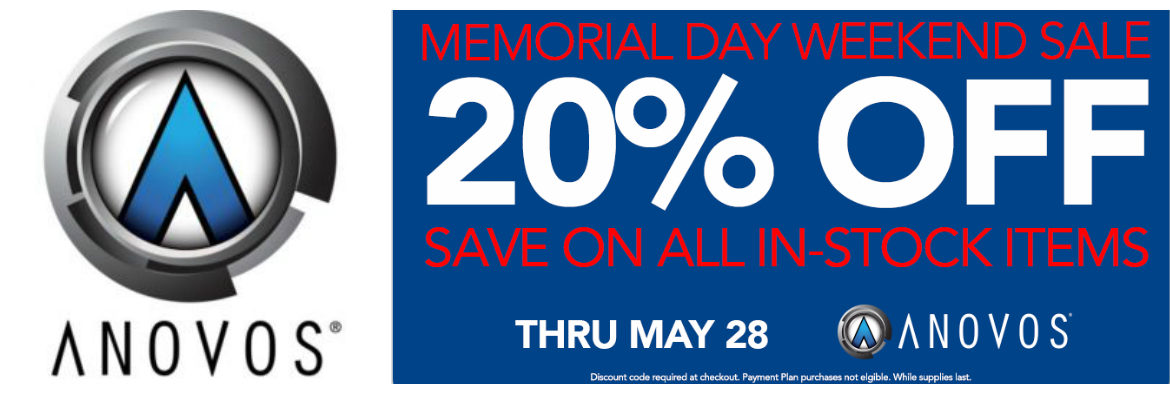 Memorial Day Weekend Sale! Save 20% OFF All In-Stock Items from Anovos