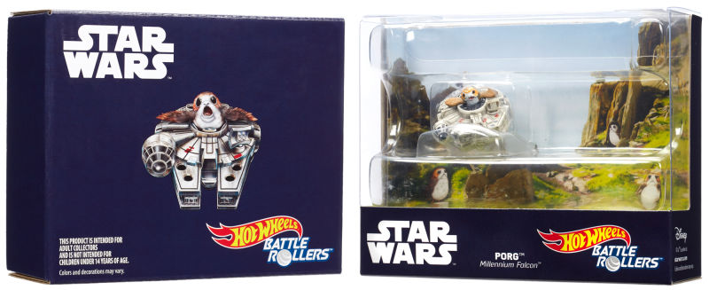 Mattel Announces SDCC Exclusive Porg with Millennium Falcon Hot Wheels Battle Roller
