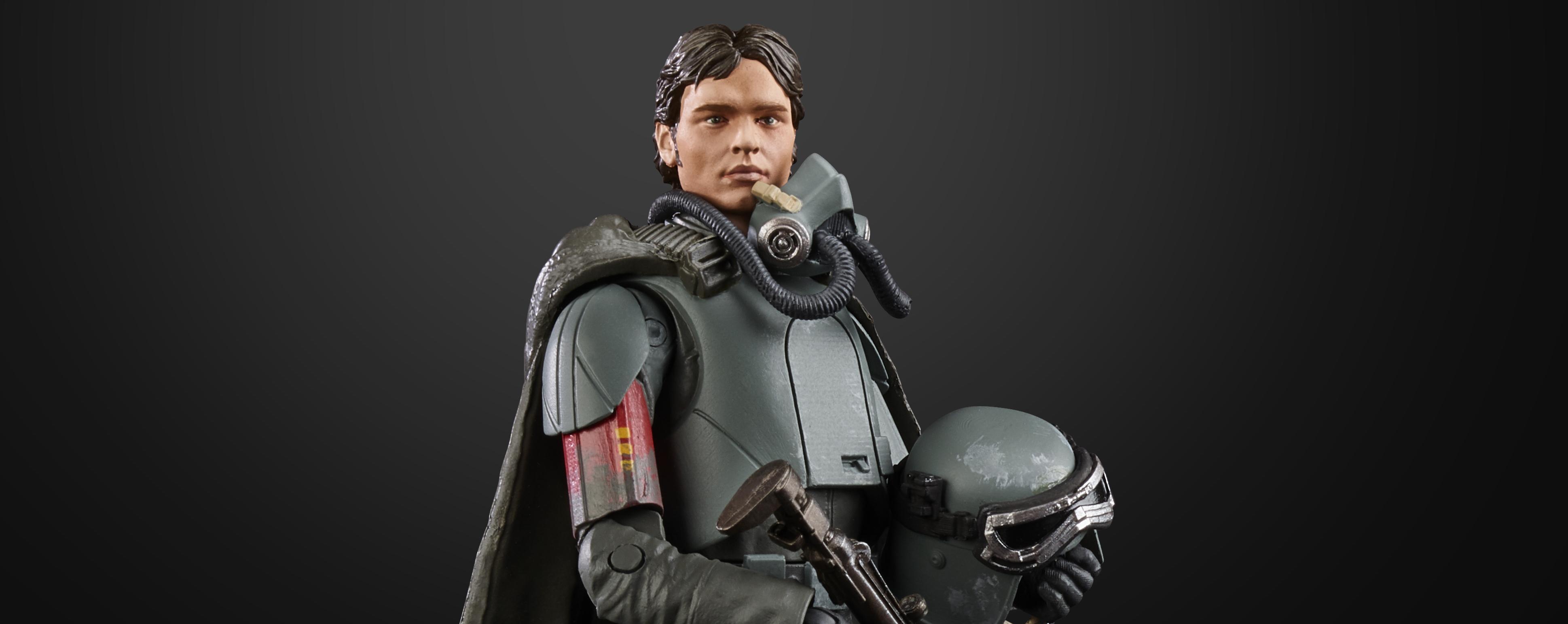 "Star Wars Black Series FORCE AWAKENS Action Figure 6/"" HAN SOLO Hasbro"