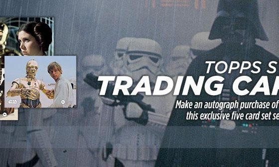 Star Wars Authentics Offering Gift With Qualifying Autograph Purchase -- Exclusive Trading Card Set!