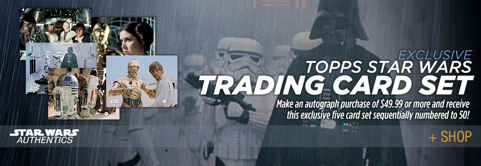 Star Wars Authentics Offering Gift With Qualifying Autograph Purchase — Exclusive Trading Card Set!