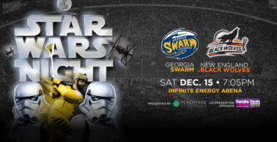 Georgia Swarm's Home Opener and 'Star Wars Night' Set for December 15